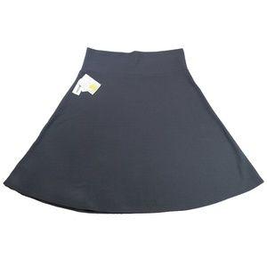 NWT LuLaRoe Grey Azure Skirt 3xl 3x 22/24